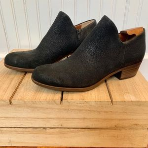 Lucky Brand Brixlee Leather Zip Up Ankle Booties
